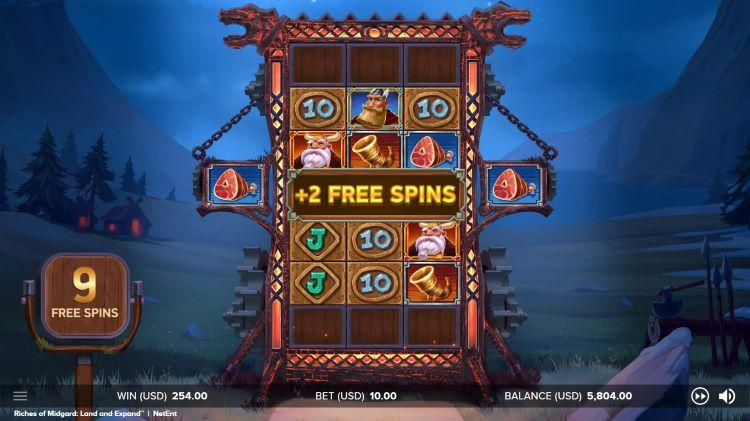 Riches of Midgard: Land and Expand free spins bonus